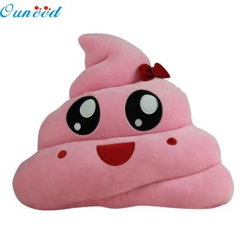 Ouneed Cute Design Amusing Emoji Emoticon Cushion Heart Eyes Poo Shape Pillow Doll Toy Throw Happy Gift High Quality Soft Plush
