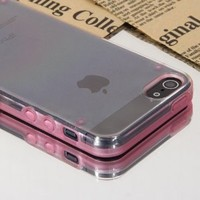 Kuteck® Ultra-Thin Glossy Luminous Glowing in Dark Hard Bumper Skin Back Case Cover For iPhone 5S / 5G (Light Pink)