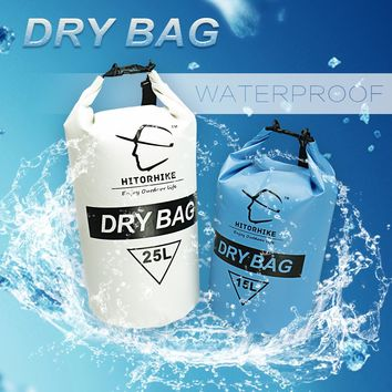 25L Waterproof Outdoor Swimming Camping Rafting Storage Bag with with Adjustable Straps  - 5 Colors