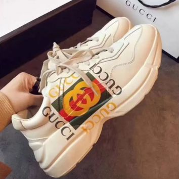 GUCCI Clunky Sneakers Sport Shoes Unisex