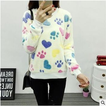 29.99     Autumn Winter Loose Hoodies Top Face Smiling Expression Prints Harajuku Hoodies High Quality Flannel