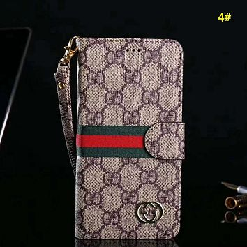 LV Louis Vuitton & Burberry & GUCCI New fashion monogram leather couple protective cover phone case 4#