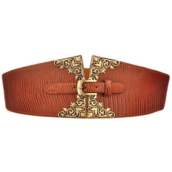 Waist Belt with Gold Buckle