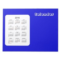 2016 Denim Blue Calendar by Janz Notepad