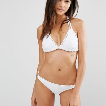 ASOS FULLER BUST Mix and Match Crochet Lace Soft Triangle Bikini Top DD-F