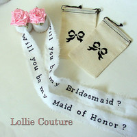 Will you be my Bridesmaid invitations, bridesmaid invites, flower girl invitations, Maid of Honor, Bridesmaid invitations