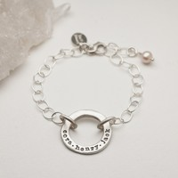 open circle pearl bracelet {sterling silver} by Lisa Leonard Designs