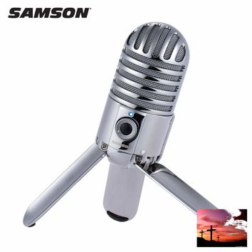 Samson Meteor Mic Studio Desktop Recording Condenser Microphone Fold-back Legs Design with USB Cable Carrying Bag for Computer NoteBook Tablet PC