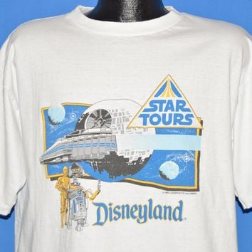 80s Star Tours Star Wars Disney Attraction t-shirt Extra Large