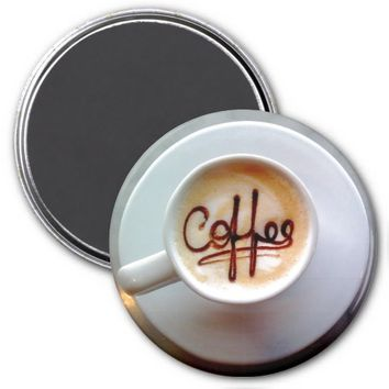 Latte coffee cup magnet