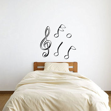 Music Notes Vinyl Wall Decal Sticker Graphic
