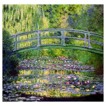 The Waterlily Pond with the Japanese Bridge, 1899 Giclee Print by Claude Monet at Art.com