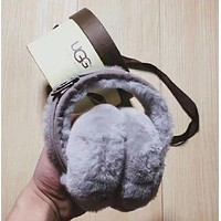 UGG Trending Women Men Casual Winter Warm Earmuff Grey I