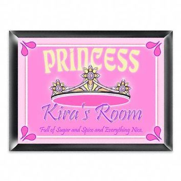 Personalized Room Sign - Princess