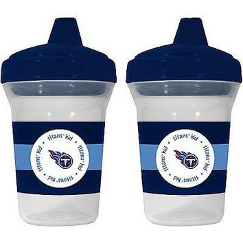 Tennessee Titans NFL 5 oz Plastic Sippy Cups (Set of 2) BPA Free