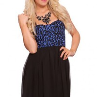 Royal Blue Black Glitter Printed Spaghetti Straps Fashionable Dress @ Amiclubwear sexy dresses,sexy dress,prom dress,summer dress,spring dress,prom gowns,teens dresses,sexy party wear,women's cocktail dresses,ball dresses,sun dresses,trendy dresses,sweate
