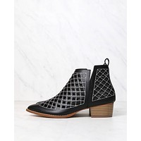 cape robbin - vegan leather cutout booties - more colors