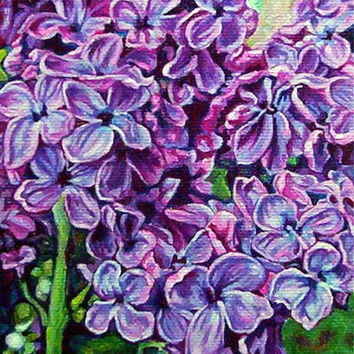 "Giclee print on canvas - Lilacs No.1 - 8"" x 10"" - Signed/Editioned"