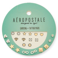 Temporary Tattoos And Stud Earring 5-Pack