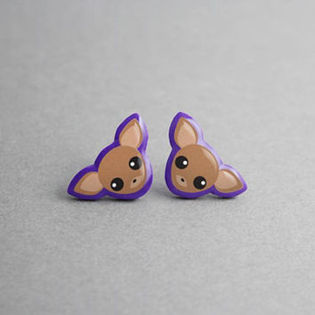 Stud Earrings Chihuahua - Dog Earrings, Statement Earrings, Birthday Gift, Best Friend Gift, Gift for Women, Dog Lover Gift, Animal, Kawaii