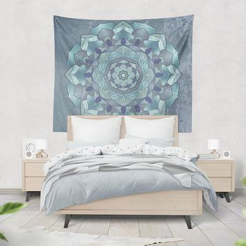 Reiki Charged Lotus Mandala Tapestry Wall Hanging Art Meditation Yoga Buddha Hippie