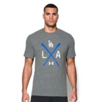 Under Armour Men's Los Angeles Dodgers Charged Cotton Tri-Blend T-Shirt