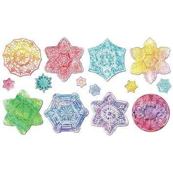SNOWFLAKE COLLECTION EMBOSSED PAPER