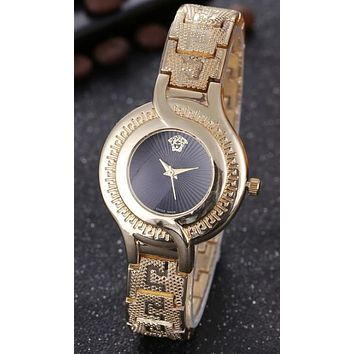 Versace Popular Woman Men Simple Quartz Watch Movement Business Watches Wrist Watch I12477-1