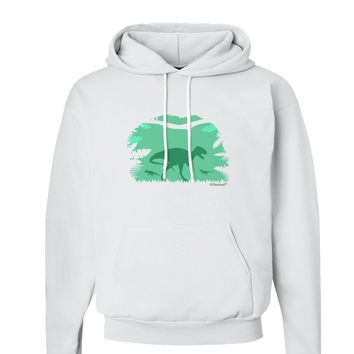 Dinosaur Silhouettes - Jungle Hoodie Sweatshirt  by TooLoud