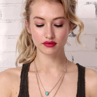 V Into You Layered Necklace - Gold