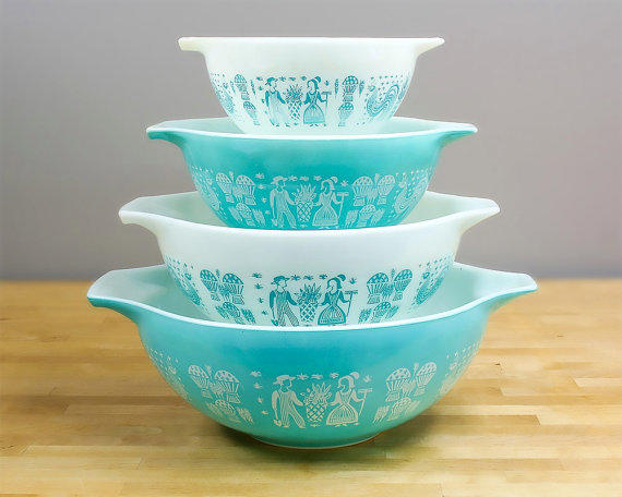 Pyrex Amish Butterprint Cinderella Bowls from Retroburgh | Mid