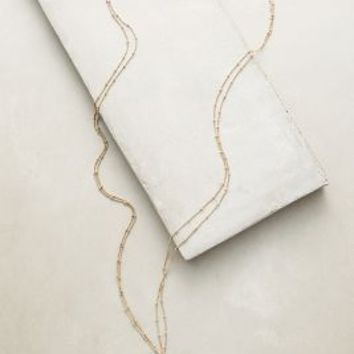 Agate Vine Necklace by Anthropologie in Slate Size: One Size Necklaces