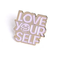 Love Yourself Enamel Pin - Gold
