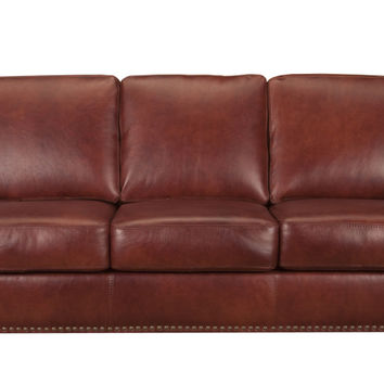 Victoria Leather Sleeper Sofa Queen Bed with Pocket-Coils