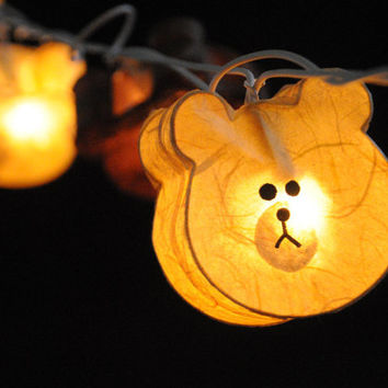 20 x handmade Teddy bear cute draw hand painted cartoon lantern string light home decoration decor bedroom baby room nursery