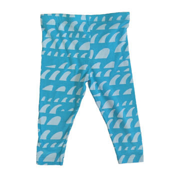 Light Blue Surf Fin Legging Pants