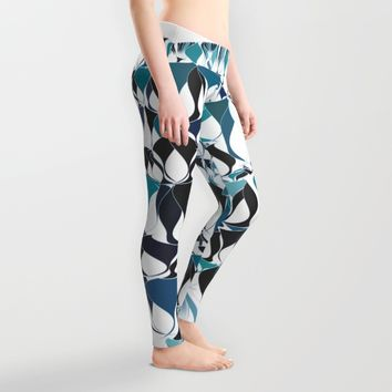 Abstract waves Leggings by VanessaGF | Society6