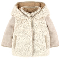 Chloe Girls Ivory Fur Reversible Jacket