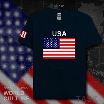 CREYLD1 United States of America USA US t shirt man jerseys 2017 t-shirt 100% cotton nation team cotton meeting fans streetwear American