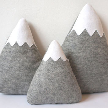 Mountain Pillows, Mountain Softies, Nursery Mountains, Mountain Nursery, Baby gift, baby decor, Adventure Nursery, Soft Moutains, Mountains