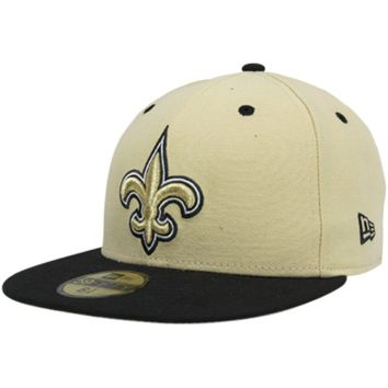 New Era New Orleans Saints Two-Tone 59FIFTY Fitted Hat - Gold/Black