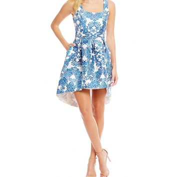 Teeze Me Scroll Print Fit-And-Flare Dress | Dillards