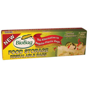 Biobag Resealable Food Storage Bags - Case Of 12 - 20 Count