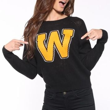 Wildfox Couture Roller Disco Mini 70's Sweater in Clean Black