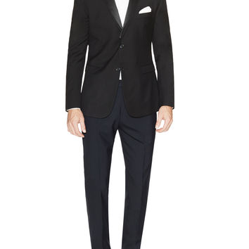 Shoreditch Men's Black Versatile Lapel Tuxedo - Black -