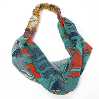 Recycled Silk Sari Headband - India