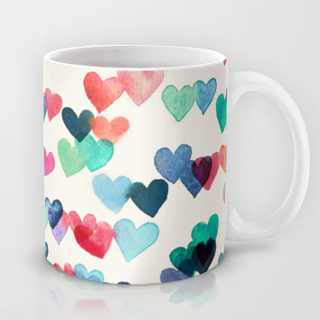 Heart Connections - watercolor painting Mug by Micklyn