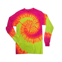 Long Sleeve Tie Dye Assorted Colors Sizes S-3XL