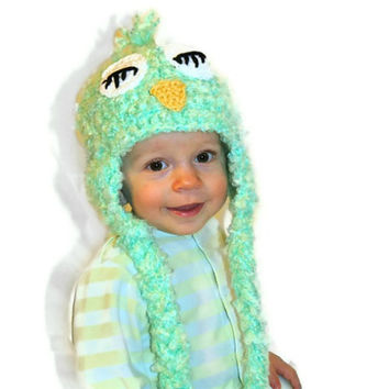 Crochet Owl Hat, Bird Hat for Baby, Toddler, Child, Teen, or Adult