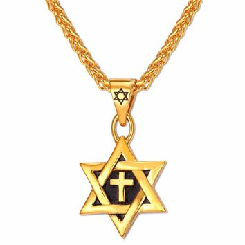 Star of David Cross Pendant & Necklace